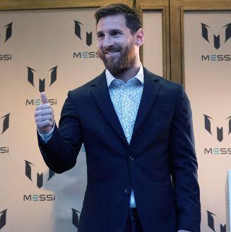 Messi en lanzamiento de línea de ropa