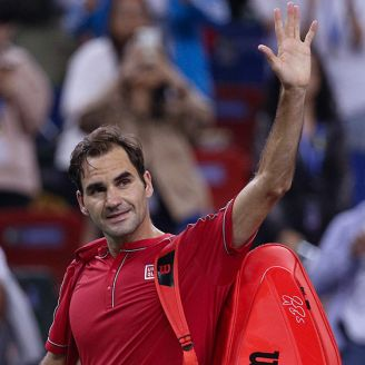 Federer se despide de los aficionados en Shangai