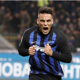 Lautaro, en un partido del Inter