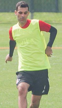Rafael Márquez, durante entrenamiento con Atlas