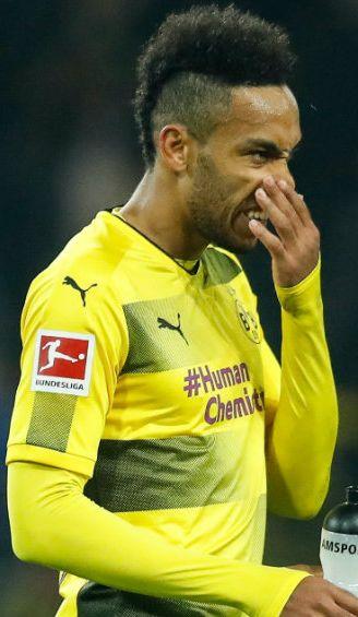 Aubameyang, durante un juego con el Borussia Dortmund