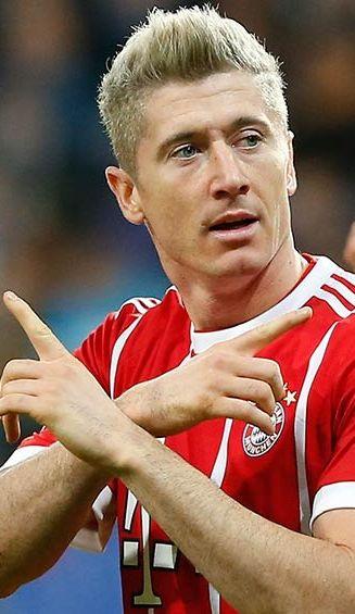 Lewandowski festeja su gol contra el Anderlecht