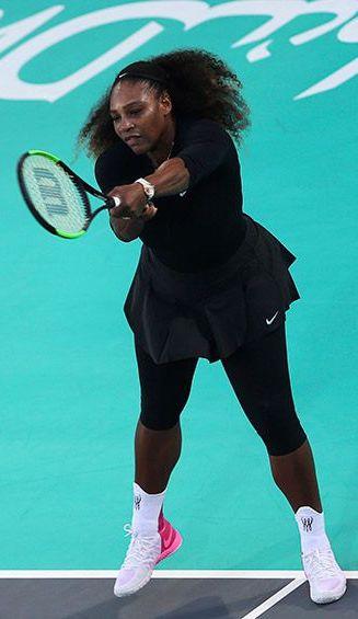 Serena Williams en el partido frente a Jelena Ostapenko
