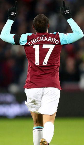 Hernández celebra una anotación con el West Ham