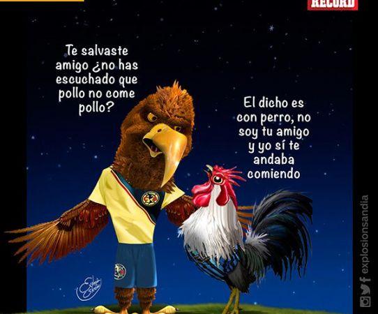 El ivecartoon del Querétaro vs América