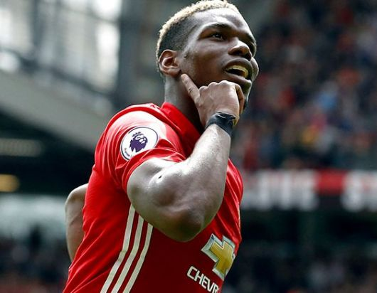 Paul Pogba celebra tras anotar el gol contra Crystal Palace
