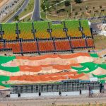 El Centro Olímpico de BMX tiene un área de cerca de 4 mil m² en el Parque Radical