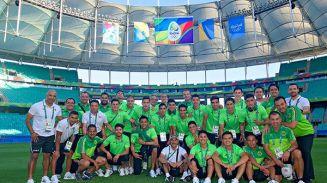 El Tri Olímpico reconoció la cancha de la Arena Fonte Nova
