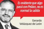 La sorpresiva salida de Peláez
