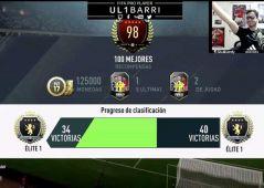 Momento en que Ul1barri entra al Top 100 de FUT Champions