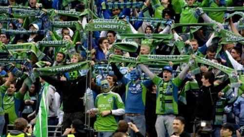 Aficionados del Seattle Sounders en el CenturyLink Field