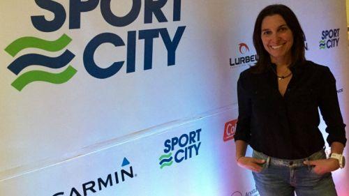 Nahila Hernández durante una entrevita
