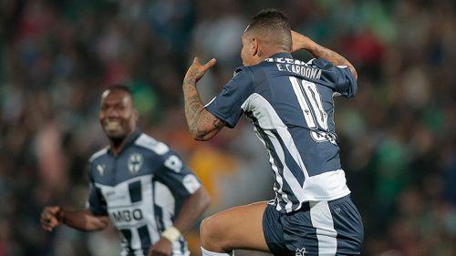 Cardona festeja su golazo contra Santos