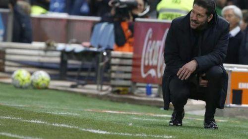 Simeone en partido del Atlético de Madrid
