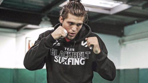 Brian en uno de sus entrenamientos de MMA