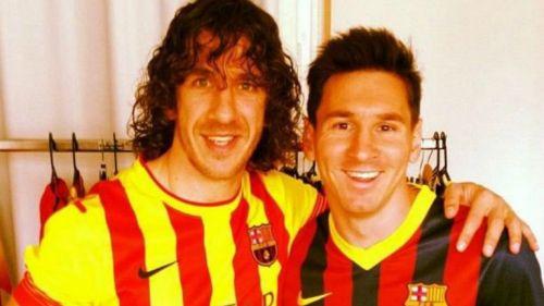 Puyol y Messi fueron compañeros en el Barcelona