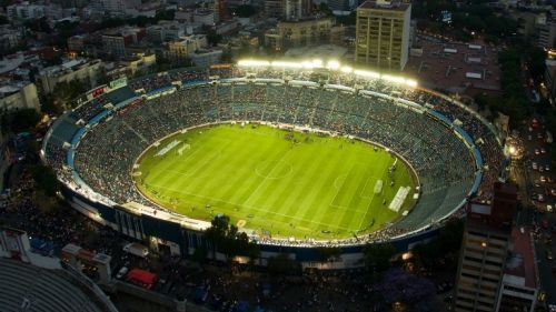 Vista panorámica del Estadio Azul