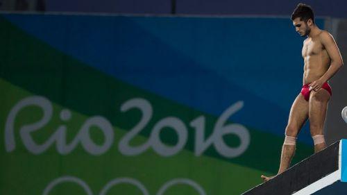 Iván García, durante la competencia de clavados en Río 2016