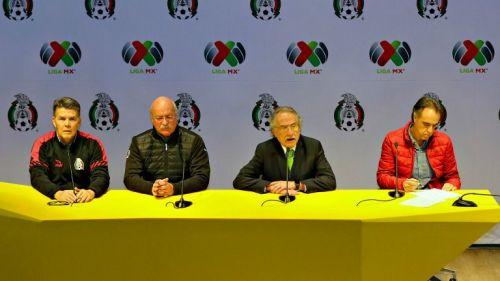 Iñárritu, Bonilla, De María y Rivas en conferencia de prensa