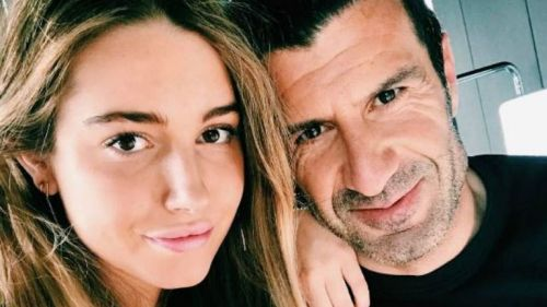 Luis Figo posa junto a su guapísima hija Daniela