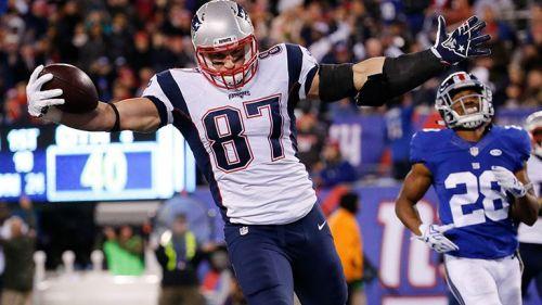 Rob Gronkowski celebra un touchdown con Patriots