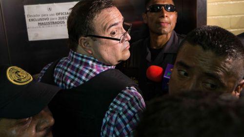 Duarte llega a su primera audiencia en Guatemala