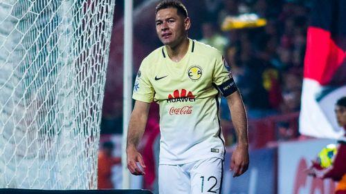 Pablo Aguilar, durante el partido de Copa MX entre América y Xolos