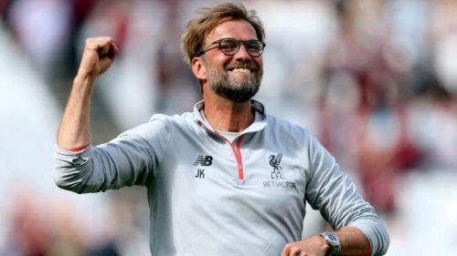 Jürgen Klopp celebra la victoria de un juego