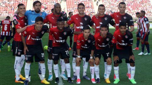 Equipo titular del Atlas durante el partido contra Guadalajara en la Liguilla