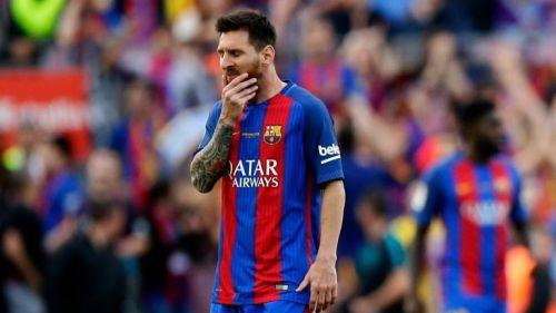 Messi, en lamento durante un juego del Barcelona en La Liga