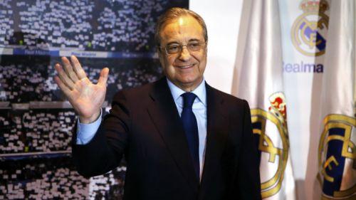 Florentino Pérez en el acto donde fue proclamado por quinta vez presidente del RM