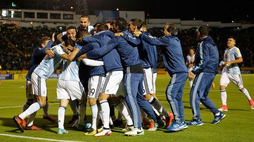 Argentina celebra clasificación al Mundial
