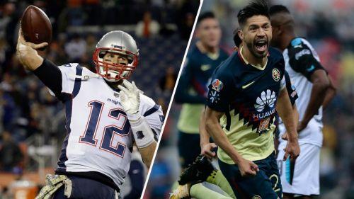 Brady y Peralta, durante un partido con los Pats y las Águilas