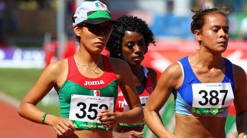 Brenda Flores, durante los Juegos Centroamericanos