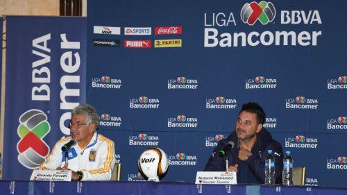 Ferretti y Mohamed, durante el día de medios de la Final Tigres vs Monterrey