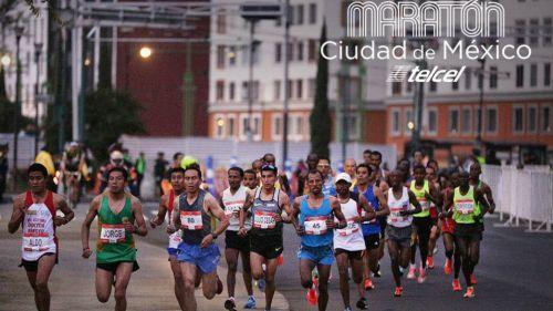 Corredores del Maratón de la Ciudad de México en 2017