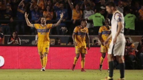 Gignac festeja su gol contra América en la J6 del C2018
