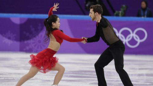 Yura Min and Alexander Gamelin en su presentación en Pyeong Chang 2018