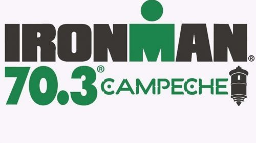 Logo oficial de la competencia Ironman 70.3 Campeche