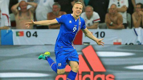Celebración de gol de Islandia contra Inglaterra en Euro 2016