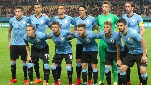 Selección Uruguaya previo al partido contra República Checa