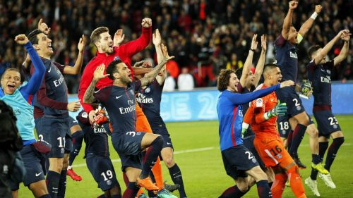 PSG celebra haberse convertido en Campeón de la Ligue 1