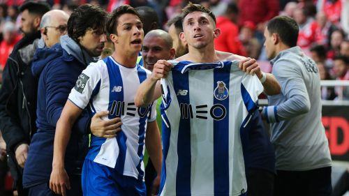 Herrera celebra su golazo ante Benfica