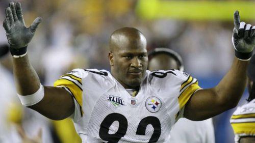 James Harrison celebra con Steelers