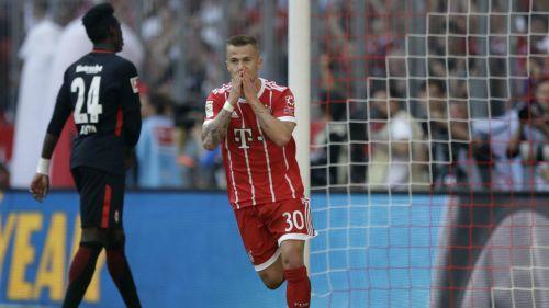 Niklas Dorsch celebra su anotación contra el Eintracht