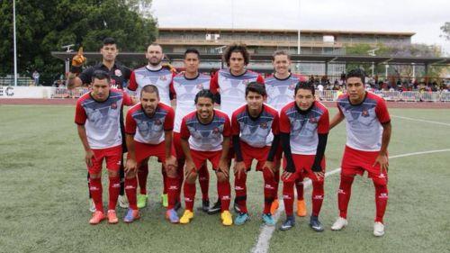 Cuadro inicial del Deportivo Aragón en un juego de exhibición
