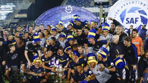 Boca Juniors celebra campeonato de Superliga