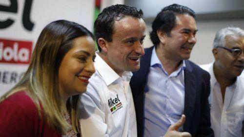 Mikel Arriola, en un evento de su campaña política