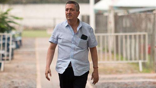 Jorge Vergara, durante un entrenamiento de Chivas