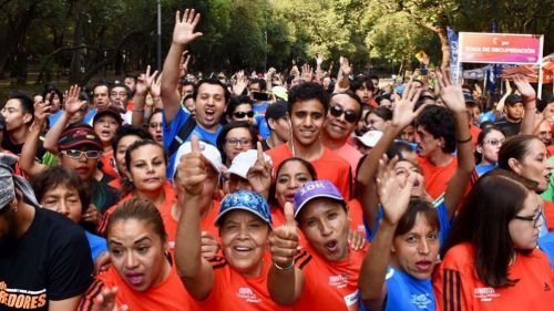 Los participantes de Global Running Day